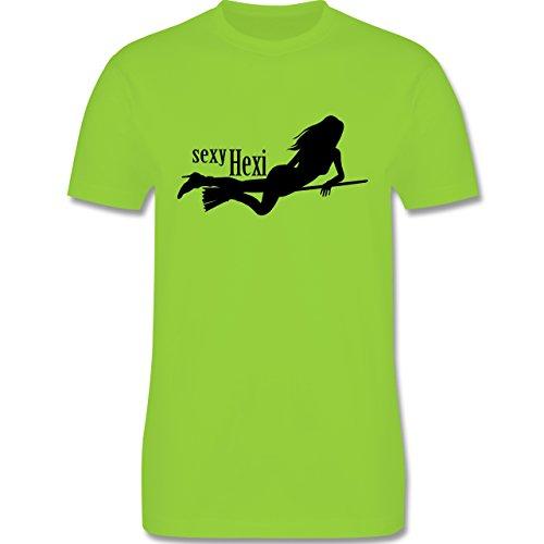 Halloween - sexy Hexy - Herren Premium T-Shirt Hellgrün