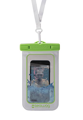 """Seawag 5,7"""" wasserdichte Handyhülle, Smartphone Tasche, white/green"""