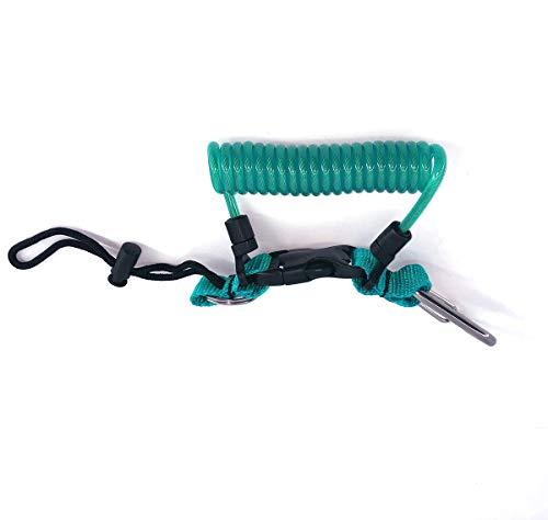 Kinno Scuba Springseil, Tauchband, Anti-Verlust, Federschnalle, Schnalle für Tauchen, Kamera, Abdeckung Seil, Hellblau (Water Blue) -