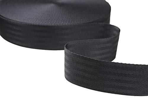 Tukan-tex (1,18€/m) Sicherheitsgurtband Gurtband Polypropylene Schwarz 50mm breit - 5,10, 50 Meter (5 Meter)