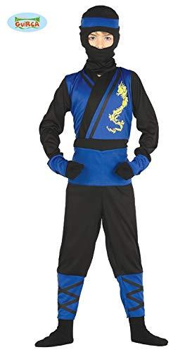 Ninja Kämpfer - Kostüm für Kinder Karneval Fasching Krieger Samurai Gr. 98 - 146, Größe:98/104