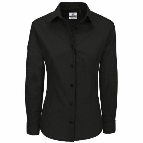 B & C Collection Femmes Heritage T-shirt à manches longues pour homme Noir - Noir