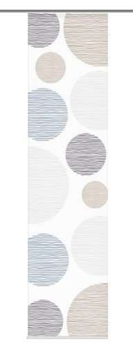 Home Fashion 87533-760 Schiebevorhang Digitaldruck Borden, Seidenoptik, 245 x 60 cm, stein