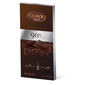 Cémoi - Schokoladentafel 'Zartbitter' mit 90% Kakao (80g)