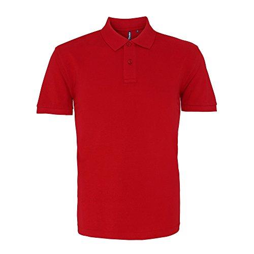 Asquith & Fox Herren Polo-Shirt, Kurzarm Kardinalsrot