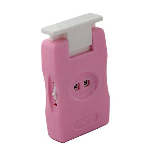 UEETEK Manueller Zähler stricken Masche Reihe häkeln Zähler stricken Tool für nach Hause reisen Einsatz Pink -