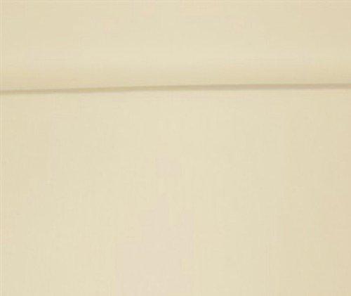 Erstklassiger Baumwollstoff, Uni, Kleider-, Dekostoff, 100% Baumwolle, Meterware, Breite 160cm - ecru