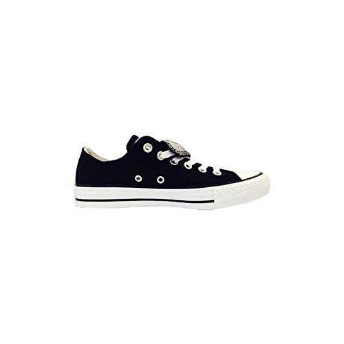 Converse Chuck Taylor All Star Double Tongue Ox Black Textile Trainers Black