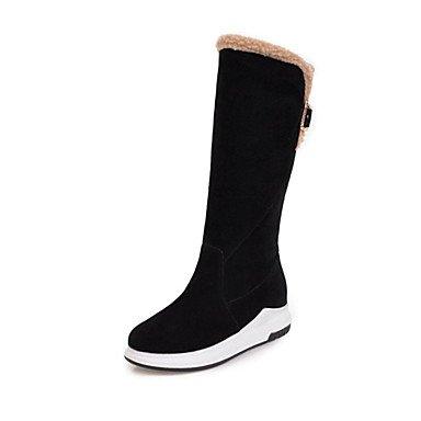 RTRY Scarpe Donna Fleece Inverno Novità Snow Boots Fashion Stivali Stivali Tacco A Cuneo Punta Tonda Mid-Calf Scarponi Per Abbigliamento Casual Arrossendo Rosa US8.5 / EU39 / UK6.5 / CN40