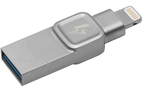 Kingston DataTraveler Bolt Duo C-USB3L-SR128G-EN 128GB Flash Laufwerk (Speziell für die Verwendung mit iPhone & iPad entwickelt Funktioniert mit iOS 9.0+, Nehmen Sie mehr Fotos und Videos auf) silber -