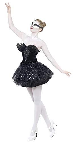 Alien Brust Kostüm - Karnevalskostüm Gothic-Schwan Schwarz mit Kleid, Small