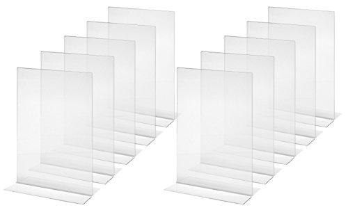 Sigel TA220 Tischaufsteller gerade, für A4, 10 Stück, glasklar Acryl - weitere Größen