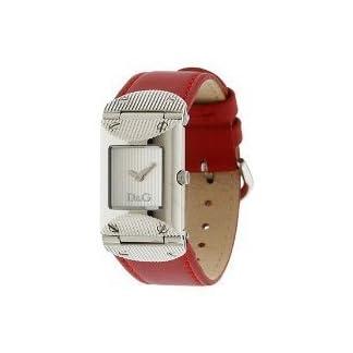 Dolce & Gabbana – Reloj de mujer, correa de piel – color rojo