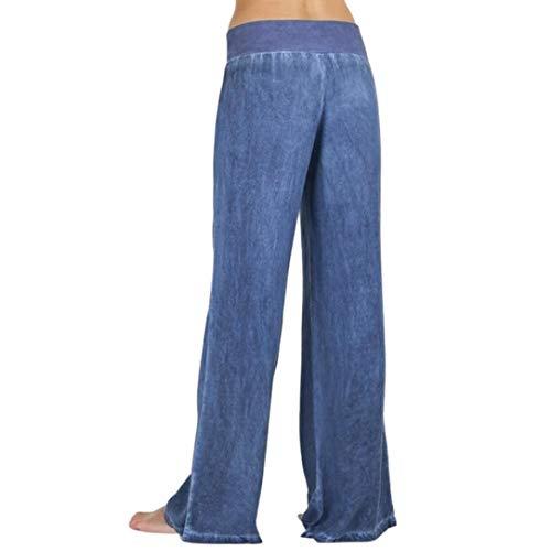 separation shoes 3432e de5f5 Pantaloni larghi jeans-Donna Estivi Gamba Larga Split Pantaloni Alla  Caviglia Loose Traspirante Vita Alta Pantaloni - Harem Pantaloni-Yoga  Fitness ...