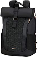 Samsonite 2WM Lady - Mochila Roll Top para Portátil, 42 cm, 16 L, Negro (Black)