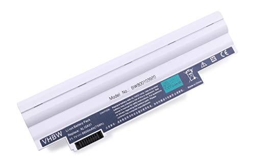 Variation vhbw Li-Ion Batterie 4400 mAh (11.1 V) en noir compatible pour ACER Aspire one AOD255-1134 comme, AL10 A31 AL10B31 AL10G31,, BTP00.128, BT. 00603.121 00603.