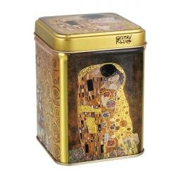 """Dose """"Klimt Kuss"""" 100g eckig, Stülpdeckel 98 x 65 x 65 mm"""