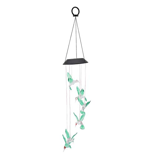 Nikou Wind Boll Licht Windspiele Trochilus Solar Wind Glockenspiele LED Licht Farbwechsel Anhänger Bell Yard Garten Decor
