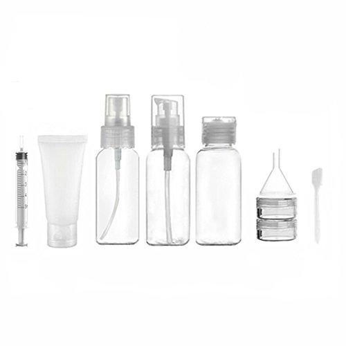 1 Jeu (6 pièces) de voyage bouteilles pour boîtes de toilette liquide maquillage cosmétiques fuite preuve de voyage portable Kit d'accessoires (transparence)