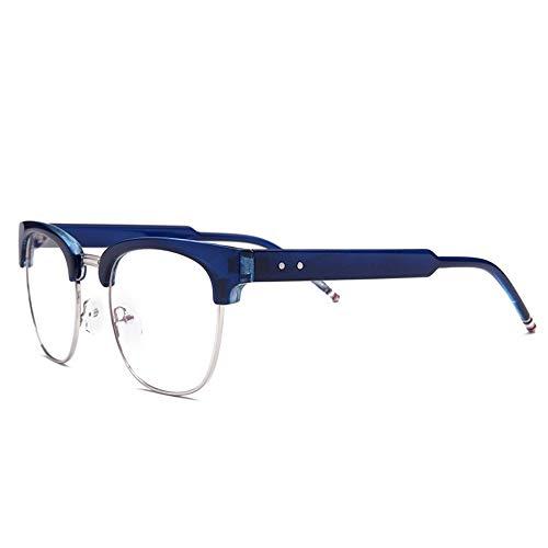 AdorabFrames Gläser Metall Retro flacher Spiegel wild Rahmenspiegel Trend Brillengestell dunkelblauer Rahmen