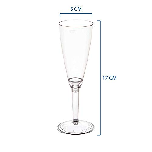 Zoom IMG-1 pz 50 calice flute trasparente