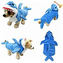 Yoption Pet Puppy Hund Weihnachten Halloween Kleidung, Coat Apparel Hoodie, S, Stereo Shark