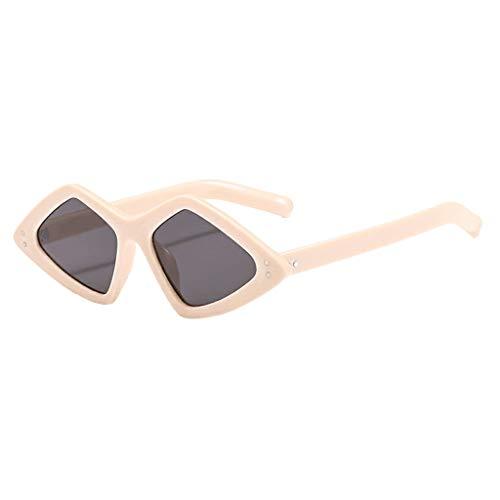YULAND Sonnenbrille, Unisex Mode Retro Brille Sportbrille, Leichte Unregelmäßige Mode Sonnenbrille Gespiegelte Polarisierte Linse