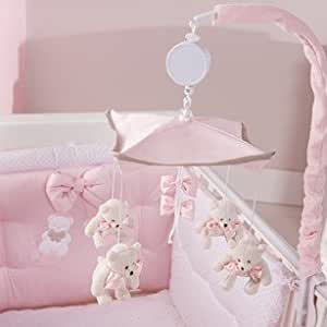 karussell musik f r kinderbett mit glockenspielcon carillon coco 39 rosa farbe spielzeug. Black Bedroom Furniture Sets. Home Design Ideas