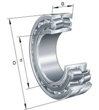 22217EAKE4C3 NSK SPHERICAL ROLLER BEARING