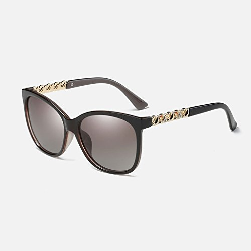 MWPO Polarisierende Sonnenbrille Dame 's Neue Klassische Mode blendfrei Fahren Outdoor sportbrillen (Farbe: braun)