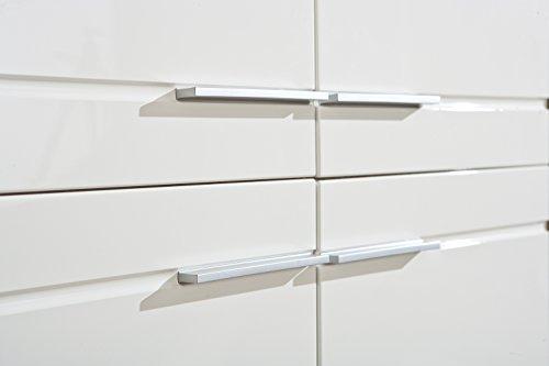 Links 19500380 Kommode weiß hochglanz Highboard Wohnzimmer Wohnkommode Sonoma Eiche 4-türig NEU - 3