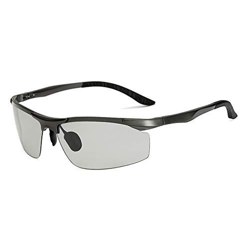 LIUYIAO Farbwechsel Sonnenbrillen Aluminium-Magnesium polarisierte Sonnenbrillen Fahren Reiten Spiegelgeschäft Baita Brille Beach Resort geeignete Schönheit hübscher Kerl
