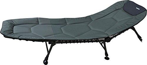 Angelspezi Liege 6-Bein Luxus Comfort Karpfenliege Stahl Bedchair 210X82cm