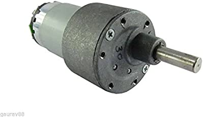 Invento INVNT_9 12V 15 Kg cm DC Side Shaft High Torque Geared Motor Heavy Duty 500 Rpm