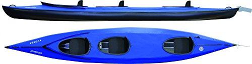 faltboot kajak Leichtes Wander- und Touringkajak. Kippstabiles Faltboot für bis zu 4 Personen, Farbe:Rot-Schwarz;Ausstattung Nortik Falt-Schlauchboote:Komplettset mit Ruder und Spritzschutz