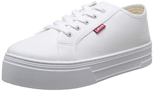 Levi's Tijuana, Zapatillas Mujer, Blanco Sneakers