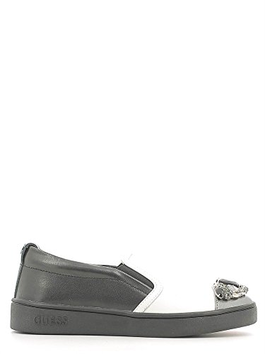 Guess FLGLO3LEA12 Slip On Donna Pelle Bianco / Nero Bianco / Nero 37