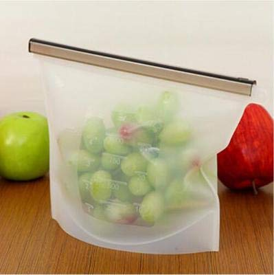 AZDSTLL Reusable Silicone Vacuum Food Fresh Bags Wraps Fridge Food Storage Containers Refrigerator Bag Kitchen Colored Ziplock Bags