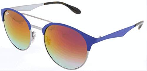 Ray-Ban Unisex-Erwachsene Sonnenbrille Rb 3545, Gunmetal/Matte Blue/Gradientviolet, 51