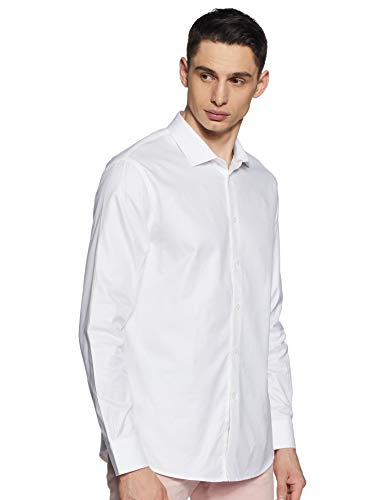 Celio NAROX Chemise Casual, Blanc (Blanc Blanc), XX-Large (Taille Fabricant:XXL) Homme