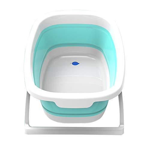 GY Tragbare Falten Bad Barrel Baby Bad Wanne Kunststoff Isolierung kann sitzen und Hinlegen Neugeborenen Kind Schwimmen Dusche Becken Grün, 81 * 48,5 * 20 cm (Farbe : Green) (Falten Baby Wanne)