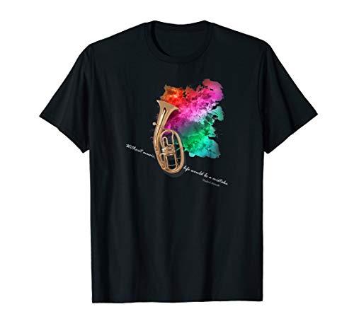 Tenorhorn T-shirt für die Orchesterprobe Musiker T-Shirt