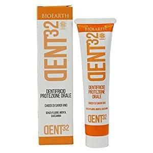 BIOEARTH - Schutz Zahnpasta mit Gewürznelken - Geeignet für die ganze Familie - zum Schutz vor Plaque und Karies - Für würzige und frische Atem - Fluoride Free & Vegan - 75 ml (Fluorid-zahnpasta Aquafresh)