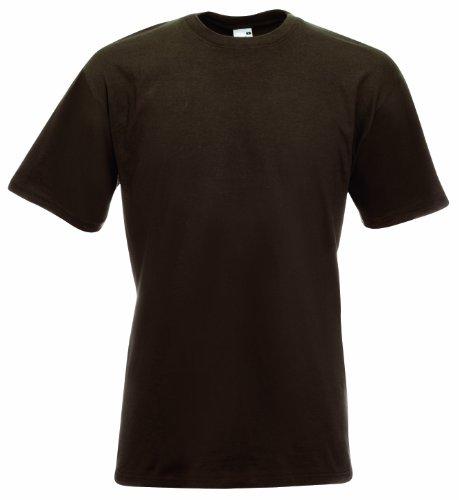 Fruit Of The Loom Herren Super Premium Kurzarm T-Shirt Braun - Chocolate