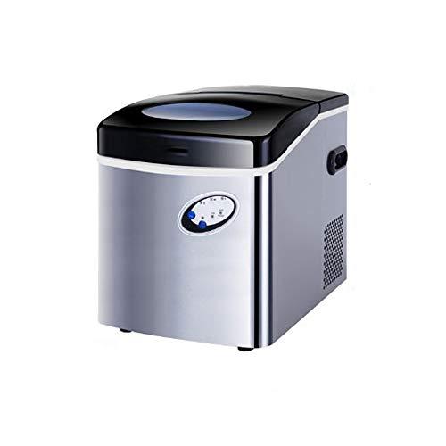 CONRAL 1407/5000 Eismaschine mit großer Kapazität, Theke-Eismaschine Elektrische Hochleistungs-Express-Eismaschine 30 kg EIS pro 24 Stunden, mit S/M/L 3 auswählbare Würfelgrößen -