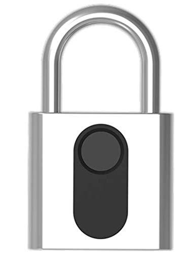 Candado para huellas dactilares con batería recargable/Cerradura de seguridad sin llave con desbloqueo...