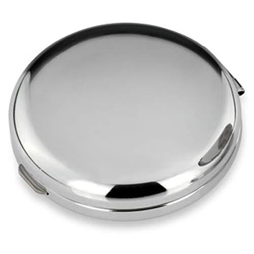 SILBERKANNE Pillendose glatt rund 3 Fächer 6x1,5 cm Silber Plated versilbert in Premium Verarbeitung