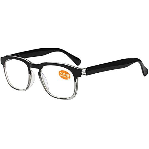 VEVESMUNDO Lesebrille Herren Damen Vintage Groß Klar Retro Rund Hornbrille Nerdbrille Lesehilfe...