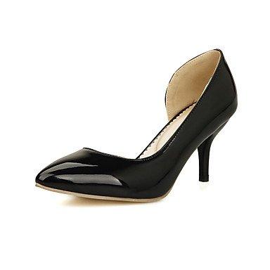 Moda Donna Sandali Sexy donna tacchi Primavera / Estate / Autunno Comfort PU Wedding / Party & sera abito / Stiletto Heel Slip-on Nero / Giallo / Rosso / Bianco White