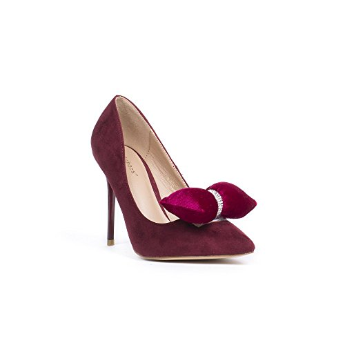 Shoes Bordeaux Effet Ideal Bout Virana Escarpins À Daim Pointu 01RwqR